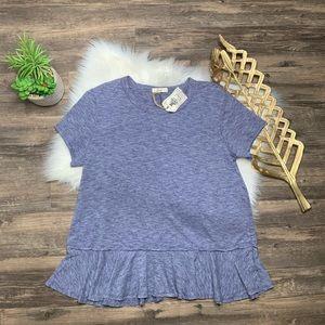 Easel Ruffle Trim T-Shirt